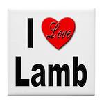I Love Lamb Tile Coaster