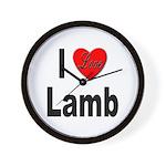 I Love Lamb Wall Clock