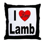 I Love Lamb Throw Pillow