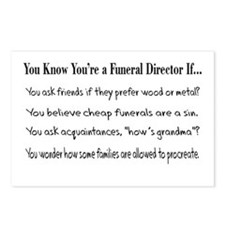 Funeral Director/Mortician Postcards (Package of 8