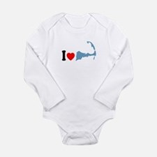 Cape Cod MA - I Love Cape Cod. Long Sleeve Infant