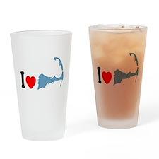 Cape Cod MA - I Love Cape Cod. Drinking Glass