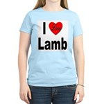 I Love Lamb (Front) Women's Pink T-Shirt