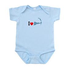 Cape Cod MA - I Love Cape Cod. Infant Bodysuit