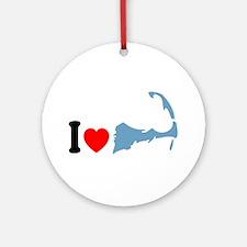 Cape Cod MA - I Love Cape Cod. Ornament (Round)