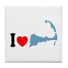 Cape Cod MA - I Love Cape Cod. Tile Coaster