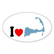 Cape Cod MA - I Love Cape Cod. Decal