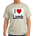 I Love Lamb (Front) Ash Grey T-Shirt