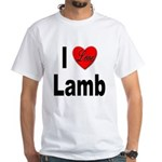 I Love Lamb (Front) White T-Shirt