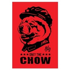 Obey the CHOW - Chairman Chow Canvas Art