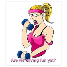 Blond weight lifter! Poster