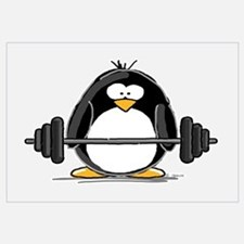Weight lifting penguin