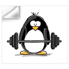 Weight lifting penguin Wall Decal