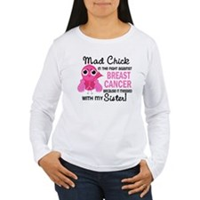 Mad Chick 2 Breast Cancer T-Shirt
