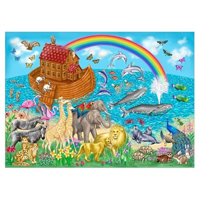 Noah's Ark Animal Poster