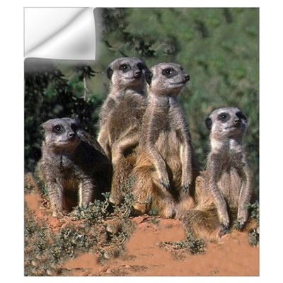 MEERKAT FAMILY PORTRAIT Wall Decal
