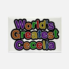 World's Greatest Cecelia Rectangle Magnet