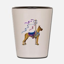 Great Dane Brindle Carousel Shot Glass