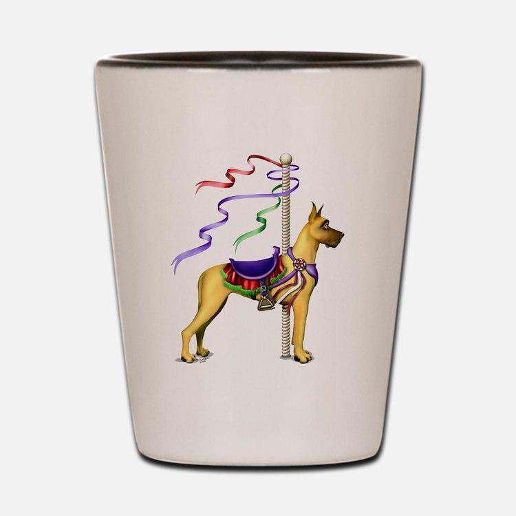 Great Dane Fawn Carousel Shot Glass