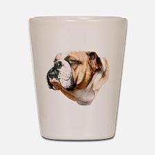 Bulldog Bust Shot Glass