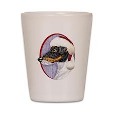 Fox Terrier Santa Shot Glass