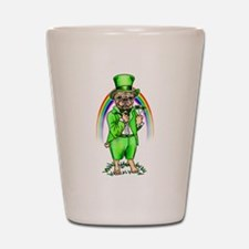 Pug St Patrick's Day Shot Glass