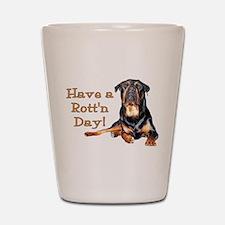 Rottweiler Rott'n Day Shot Glass