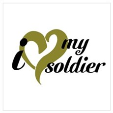 I love my soldier Framed Print