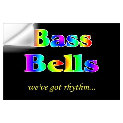 Bass Bells Black Wall Decal