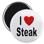 I Love Steak Magnet