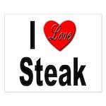 I Love Steak Small Poster