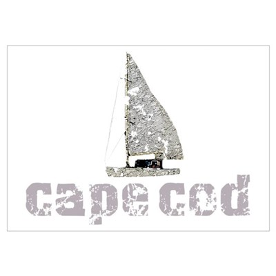 Cape Cod Sailboat Poster