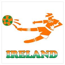 Irish Soccer Player Poster