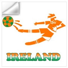 Irish Soccer Player Wall Decal