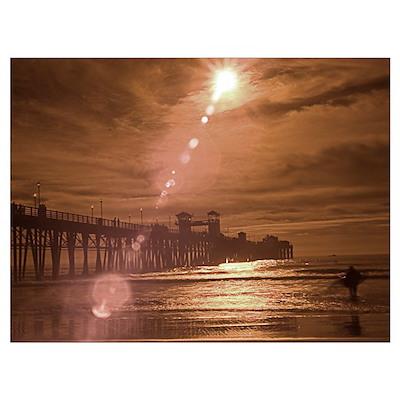 """Sunset Surfer"" Poster"