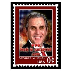 Postage Stamp Bush=Antichrist! Canvas Art