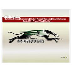 Greyhound Busline B (small) Poster