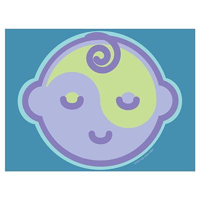 Sleepy Baby : Blue Poster