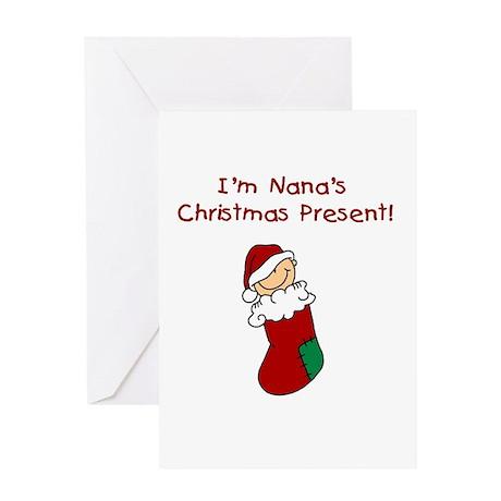 Nana's Christmas Present Greeting Card