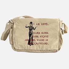 I am into...Lady Vampire Messenger Bag