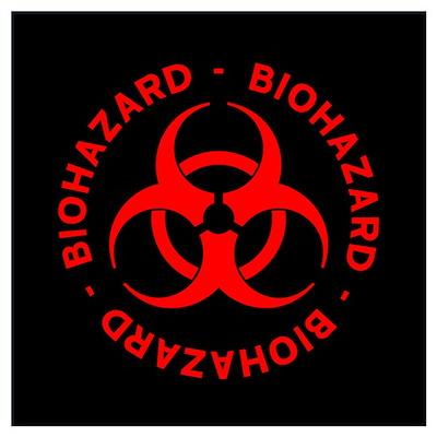 Red Biohazard Symbol Poster