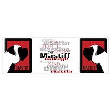 Graphic Mastiff Poster