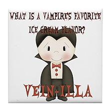 Little Vampire Halloween Joke Tile Coaster