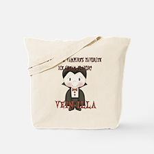 Little Vampire Halloween Joke Tote Bag