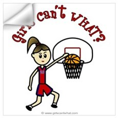 (Lady Torches-1) Basketball Wall Decal