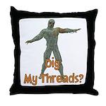 Halloween Mummy Dig My Thread Throw Pillow