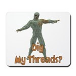 Halloween Mummy Dig My Thread Mousepad