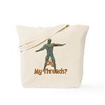 Halloween Mummy Dig My Thread Tote Bag