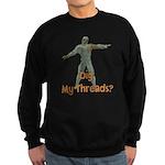 Halloween Mummy Dig My Thread Sweatshirt (dark)