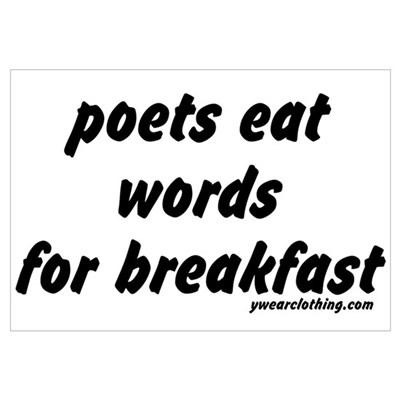 Poets Eat Words Poster